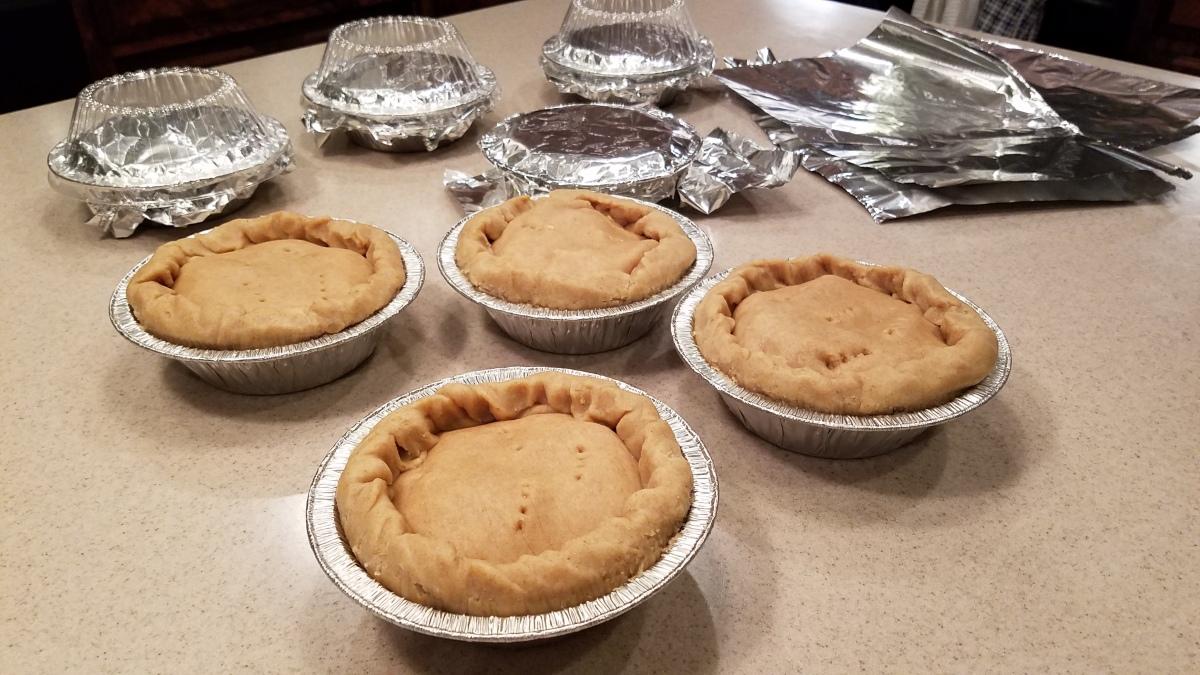 Batch Of Turkey Pot Pies
