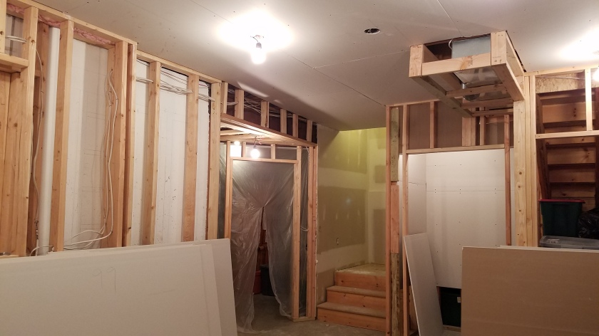 Drywall On Ceiling and Start of Closet