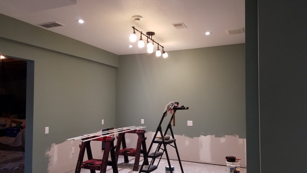 Craft Room Project: Lighting Completed!