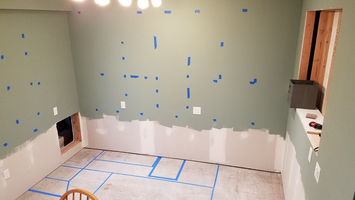 Tape Marks for Cabinet Layout