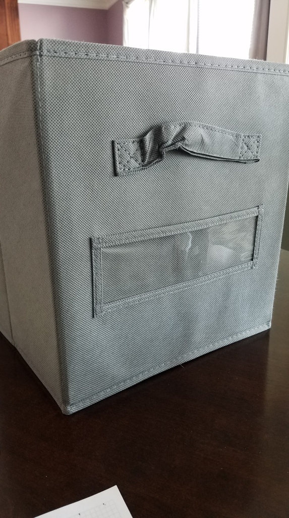 Grey Fabric Sided Storage Bin