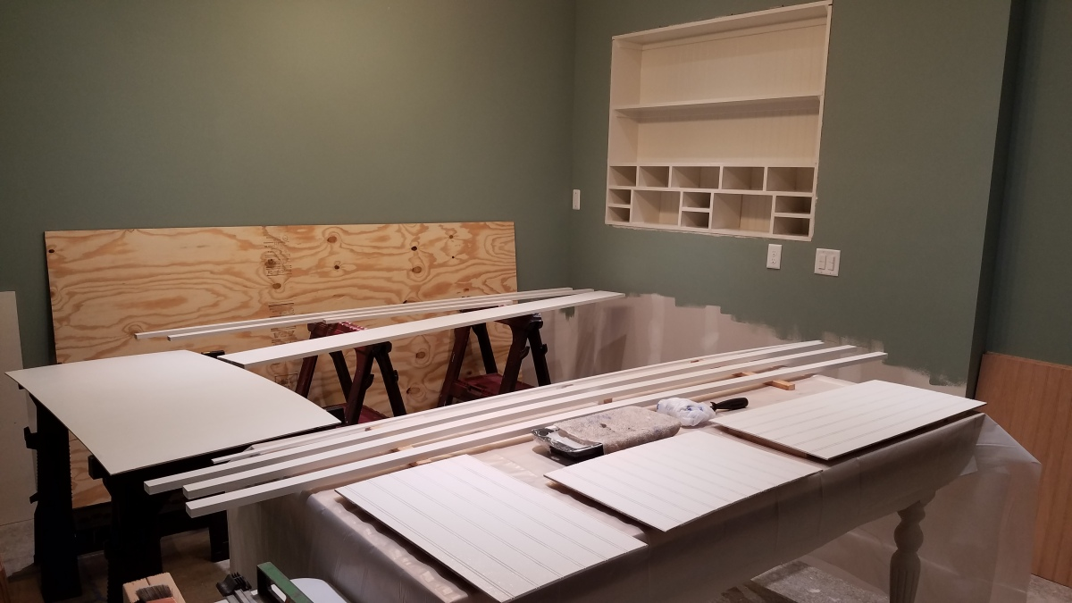 Craft Room Project: More Painting And Prep Work