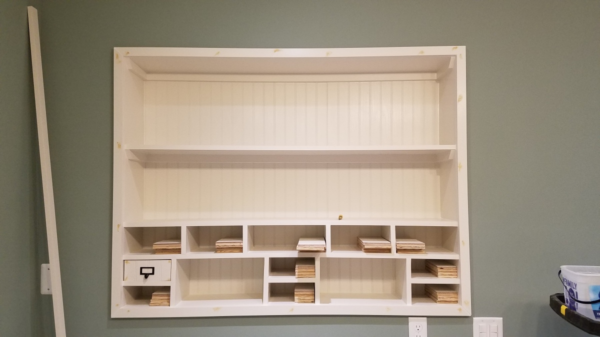Craft Room Project: Recessed Area Outer Trim Finish