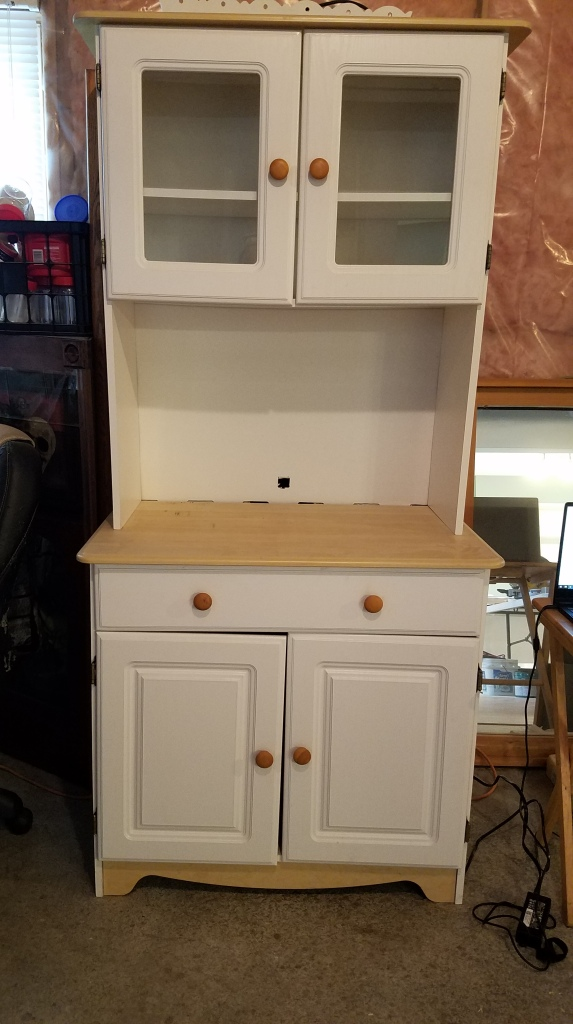 White Cabinet: Before New Doors and Paint