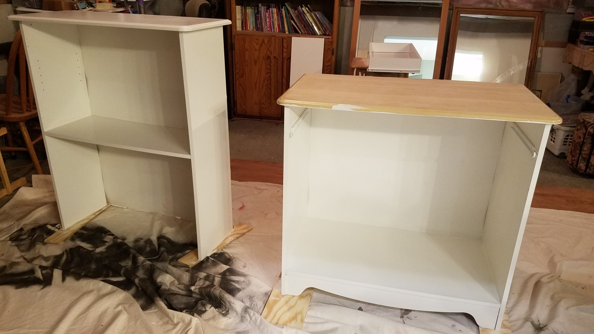 White Cabinet: In Pieces and Painted