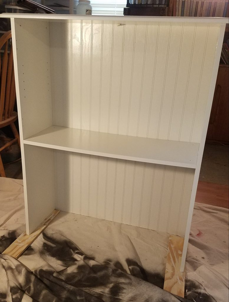 White Cabinet: New Panels On Upper Section