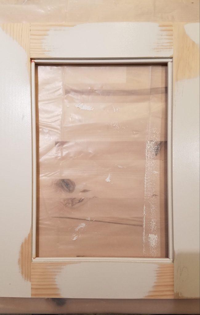 White Cabinet: Glass Door Inner Trim