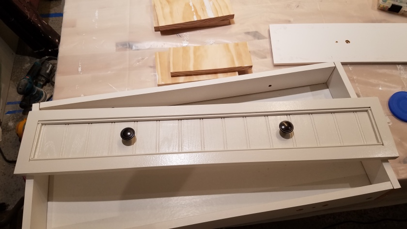 White Cabinet: New Drawer Face