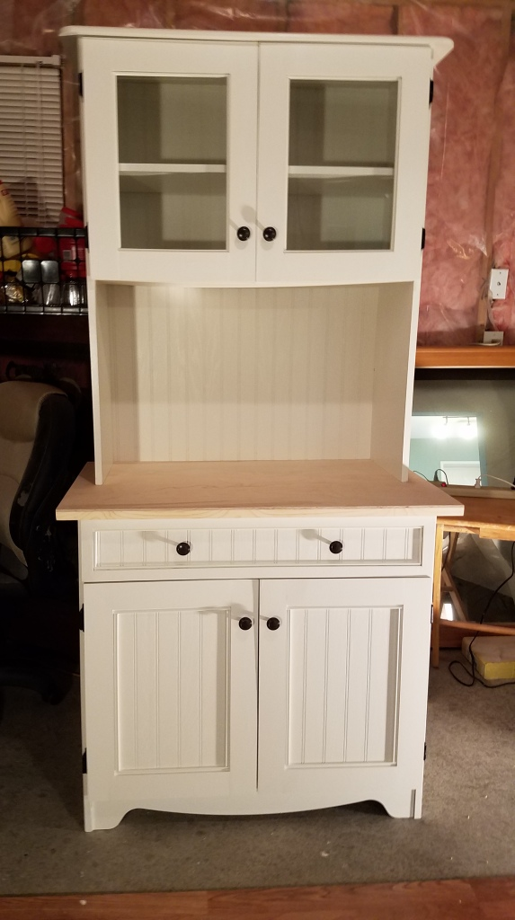 White Cabinet: New Doors and Drawer Face On