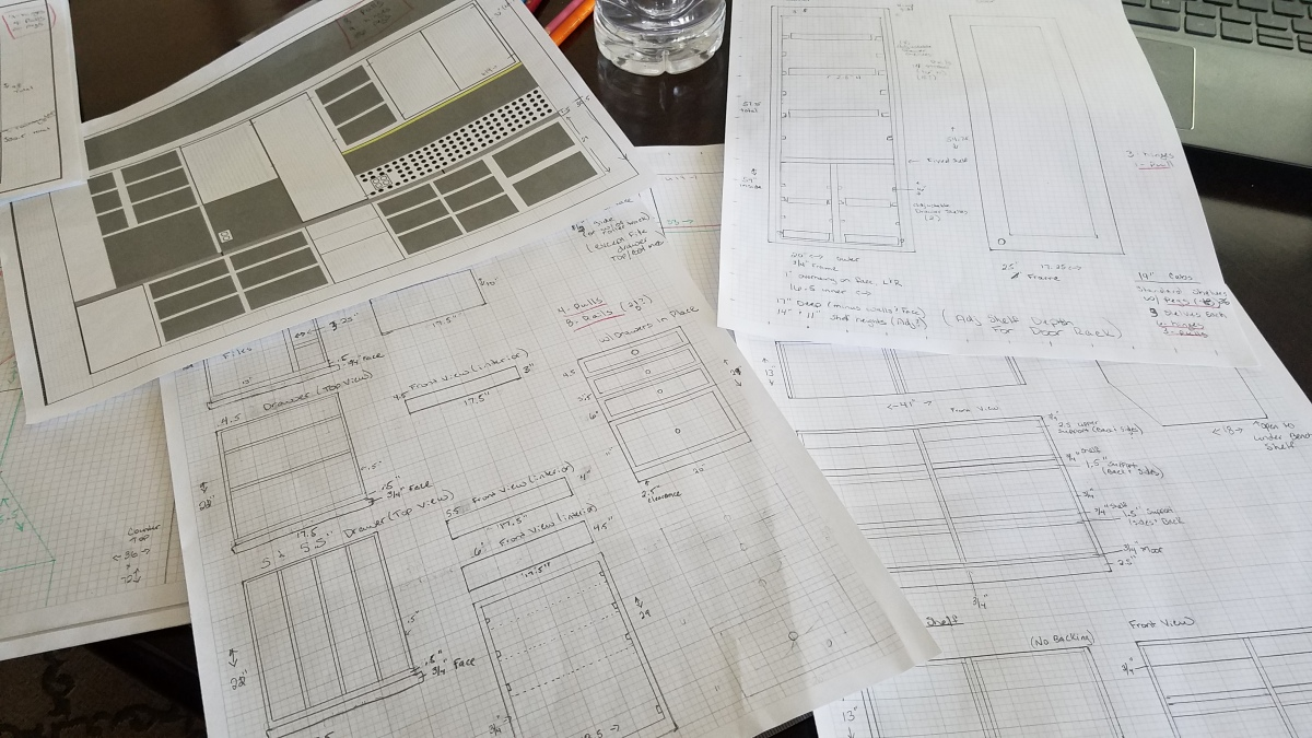 Working On Cabinet Layout Plans
