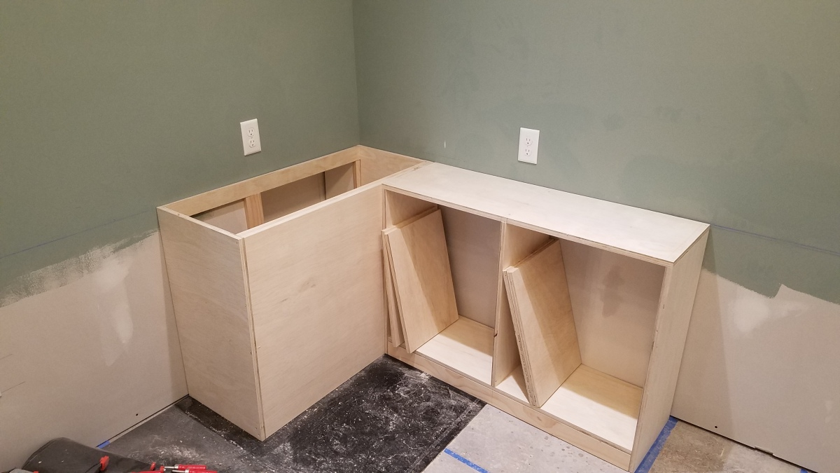Craft Room Project: 2 Cabinets Done!
