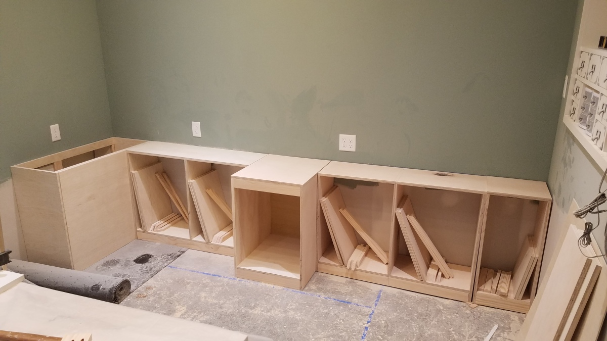 Back Wall Lower Cabinets Part 1