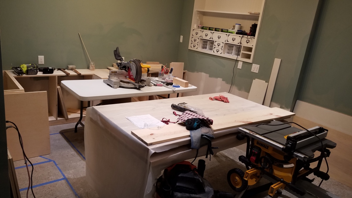 Craft Room Project: Ready for Cabinets Phase2