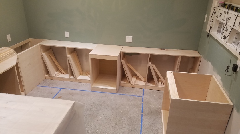 All Base Cabinets Built
