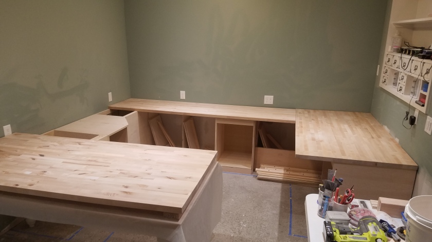 Initial Fitting For Counter Tops