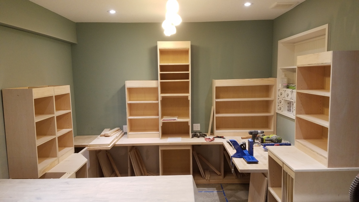 Craft Room Project: Only 1 And A Half Cabinets ToGo!