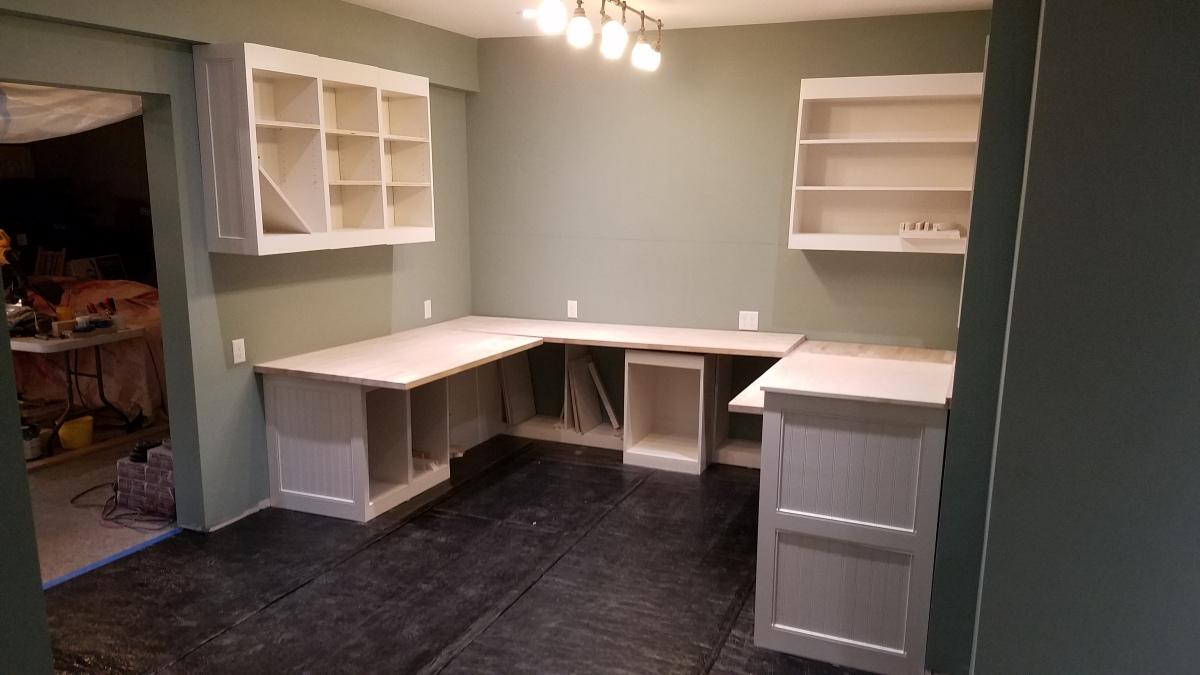 Craft Room Project: Cabinet Installation InProgress