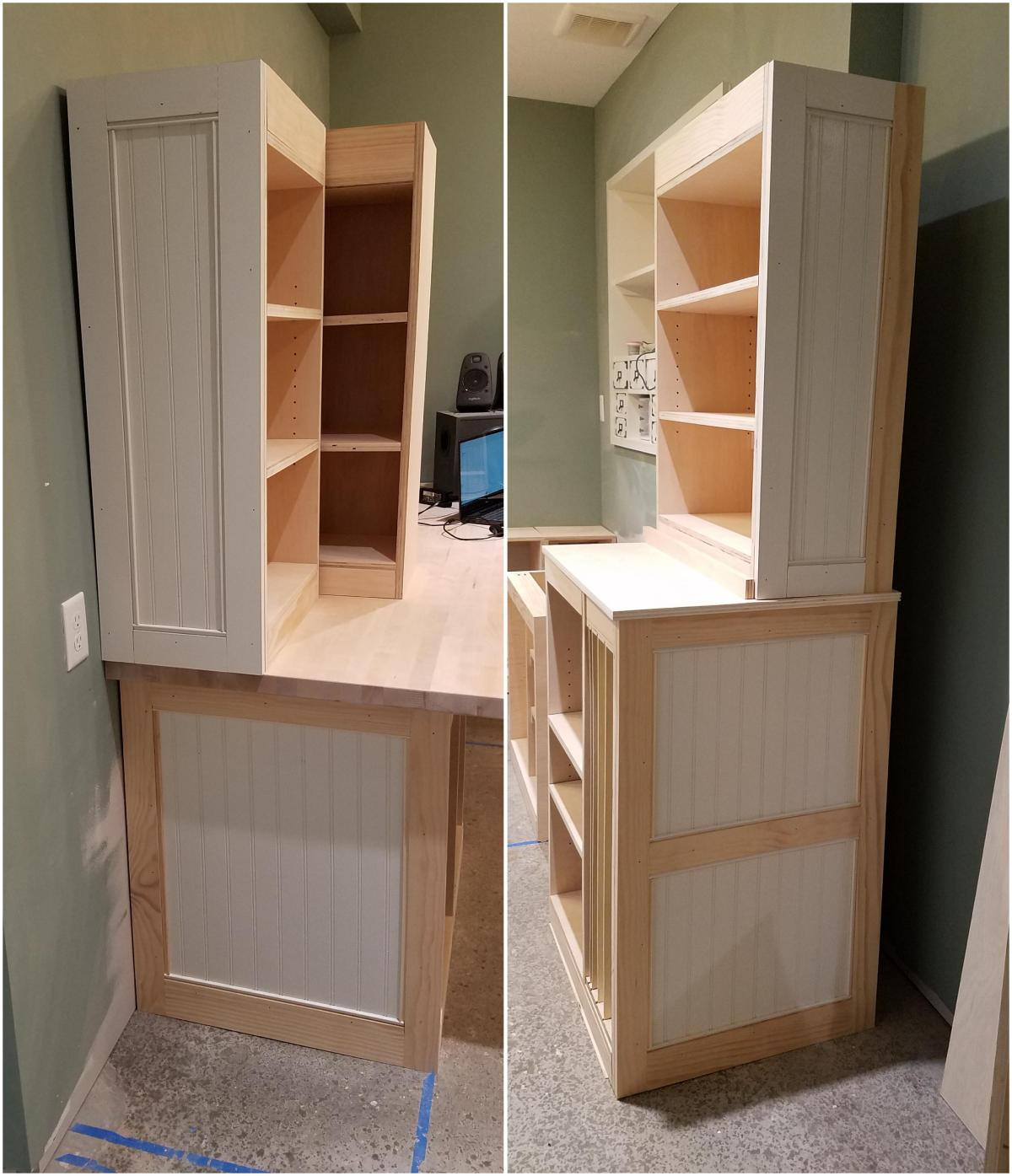 Craft Room Project: Cabinet SideFaces