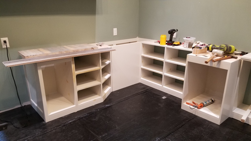Starting to Install Shelves