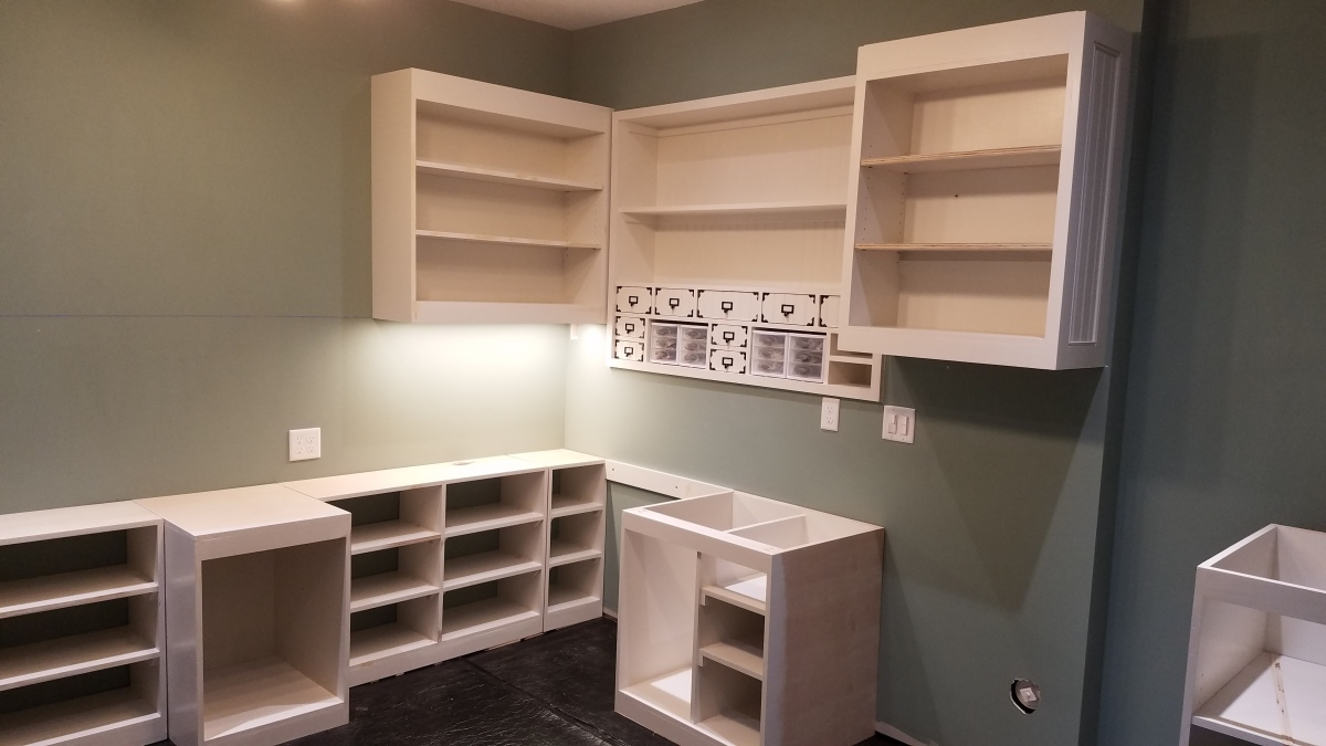 Craft Room Project: Lower Shelves AreDone
