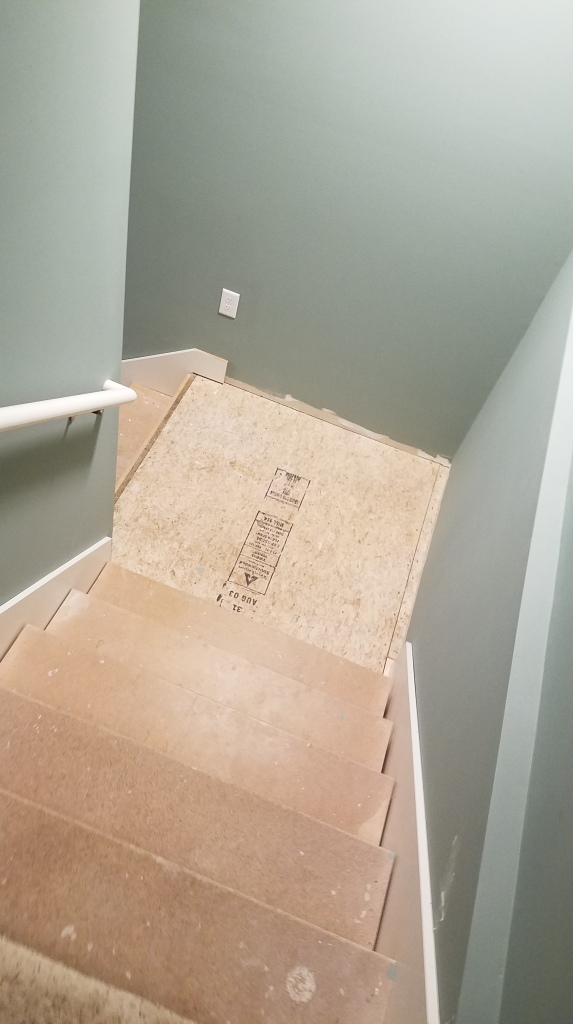 Middle Section Of Stairs With Side Boards