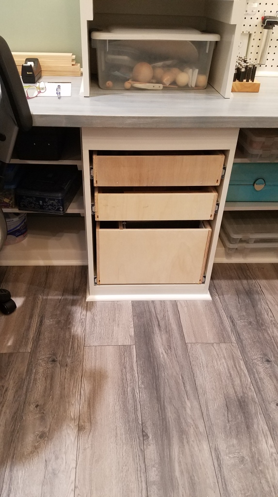 Finished and Installed Drawer Boxes